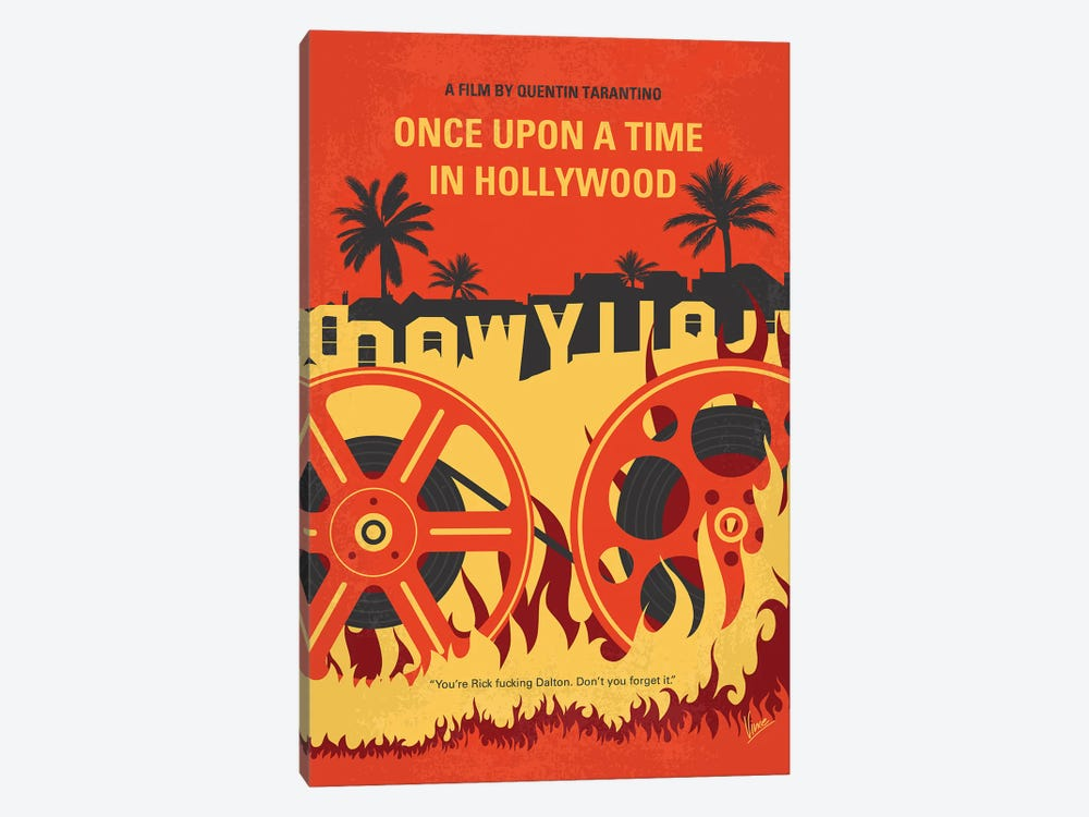 Once Upon A Time In Hollywood Minimal Movie Poster by Chungkong 1-piece Canvas Print