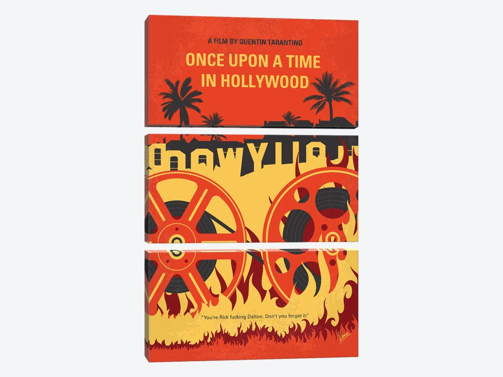 Once Upon A Time In Hollywood Minimal Movie Poster by Chungkong 3-piece Canvas Art Print