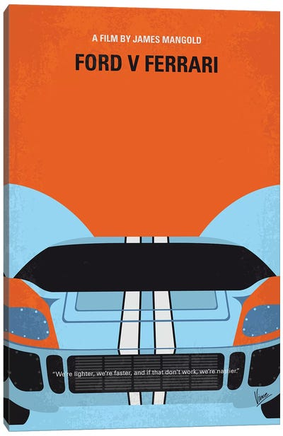 Ford V Ferrari Minimal Movie Poster Canvas Art Print