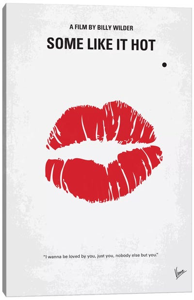 Some Like It Hot Minimal Movie Poster Canvas Art Print