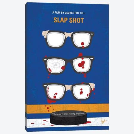 Slap Shot Minimal Movie Poster Canvas Print #CKG1314} by Chungkong Art Print