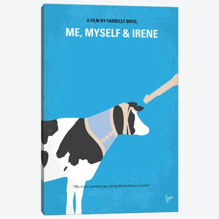 Me Myself And Irene Minimal Movie Poster Canvas Print #CKG1315} by Chungkong Art Print