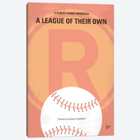 A League Of Their Own Minimal Movie Poster 3-Piece Canvas #CKG1317} by Chungkong Canvas Print