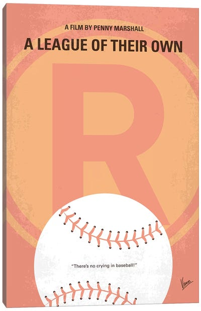 A League Of Their Own Minimal Movie Poster Canvas Art Print