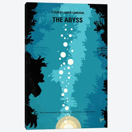 The Abyss Minimal Movie Poster Canvas Print #CKG1318} by Chungkong Canvas Art
