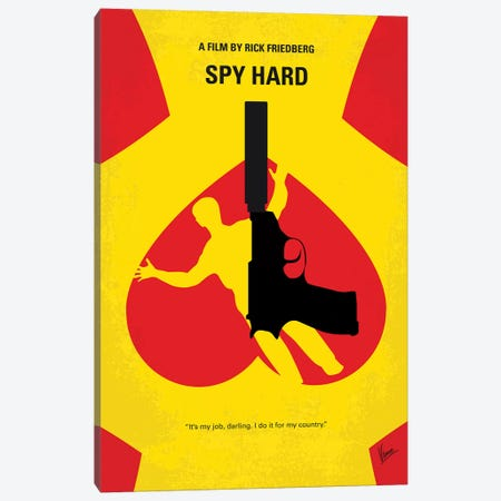 Spy Hard Minimal Movie Poster Canvas Print #CKG1319} by Chungkong Canvas Artwork