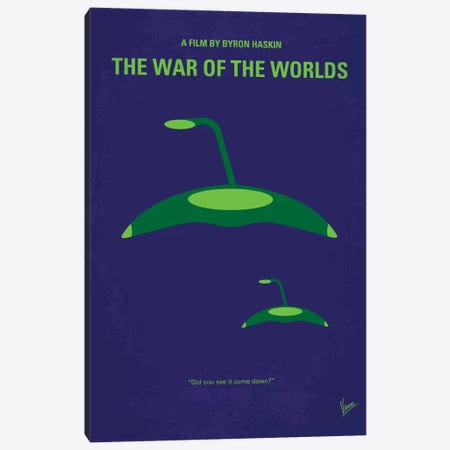 War Of The Worlds Minimal Movie Poster Canvas Print #CKG132} by Chungkong Canvas Art Print