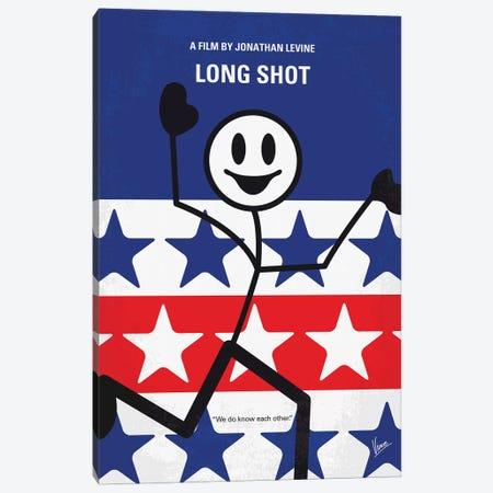 Long Shot Minimal Movie Poster Canvas Print #CKG1337} by Chungkong Canvas Print