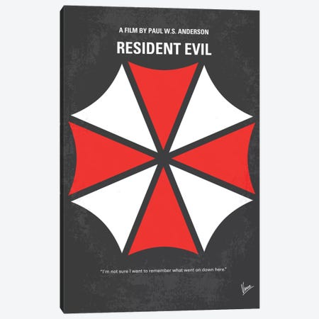 Resident Evil Minimal Movie Poster Canvas Print #CKG133} by Chungkong Canvas Art Print