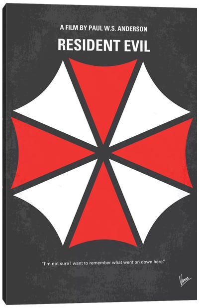 Resident Evil Minimal Movie Poster Canvas Art Print