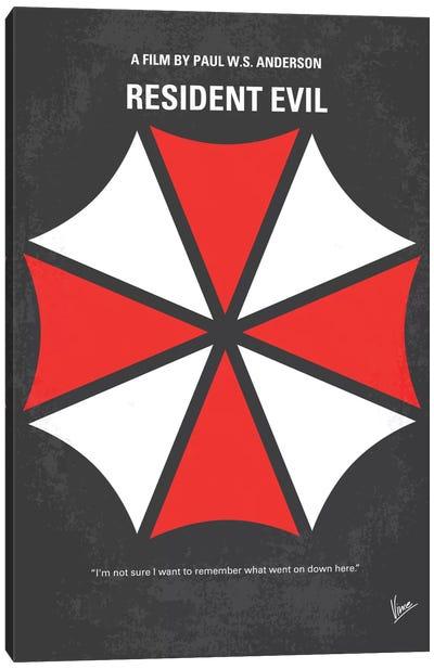 Resident Evil Minimal Movie Poster Canvas Art Print