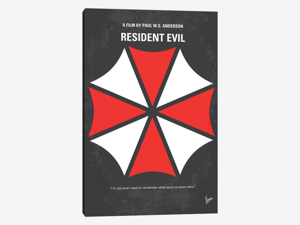 Resident Evil Minimal Movie Poster by Chungkong 1-piece Canvas Wall Art