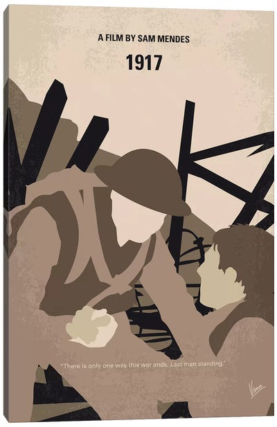 1917 Minimal Movie Poster Canvas Art Print