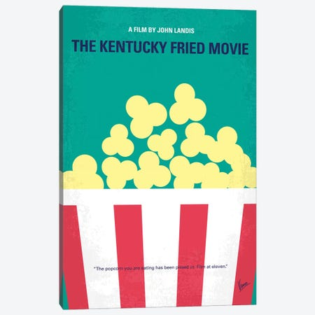 The Kentucky Fried Movie Minimal Movie Poster Canvas Print #CKG1341} by Chungkong Canvas Print