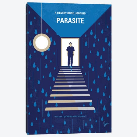 Parasite Minimal Movie Poster 3-Piece Canvas #CKG1342} by Chungkong Canvas Print