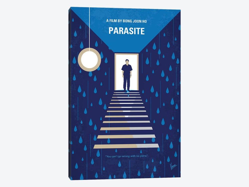 Parasite Minimal Movie Poster by Chungkong 1-piece Canvas Art Print
