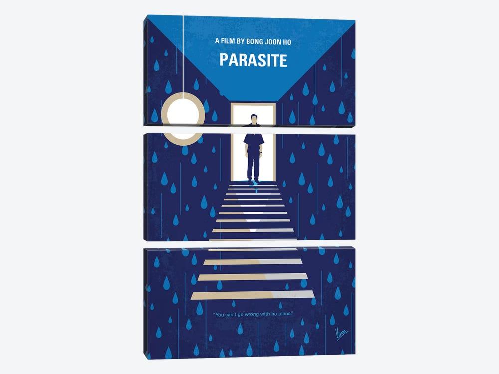 Parasite Minimal Movie Poster by Chungkong 3-piece Canvas Art Print