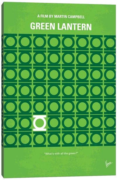 Green Lantern Minimal Movie Poster Canvas Print #CKG134