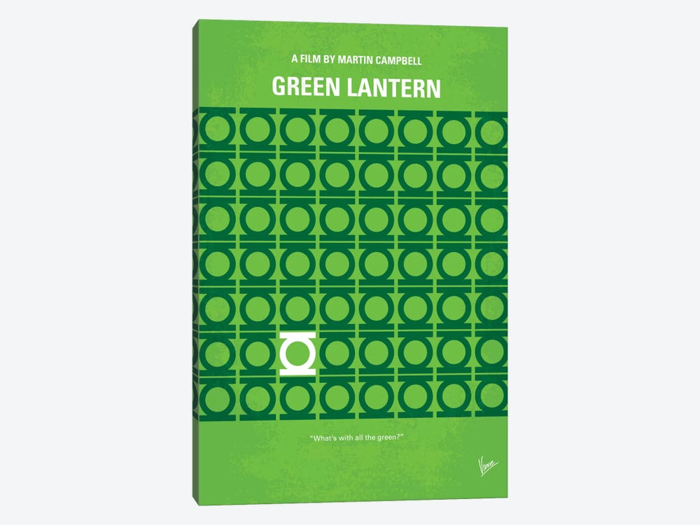 Green Lantern Minimal Movie Poster by Chungkong 1-piece Canvas Print