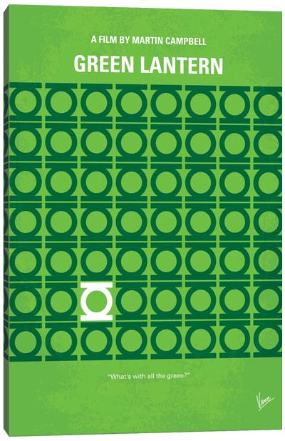 Green Lantern Minimal Movie Poster Canvas Art Print