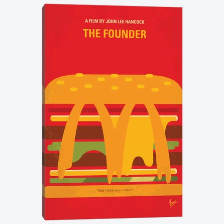 My The Founder Minimal Movie Poster Canvas Print #CKG1351} by Chungkong Canvas Wall Art