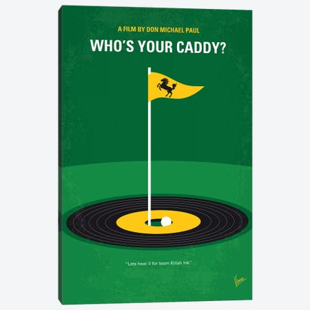 My Whos Your Caddy Minimal Movie Poster Canvas Print #CKG1353} by Chungkong Canvas Wall Art