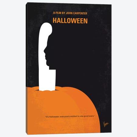 My Halloween Minimal Movie Poster Canvas Print #CKG1354} by Chungkong Canvas Art Print