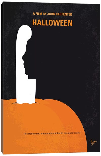 My Halloween Minimal Movie Poster Canvas Art Print