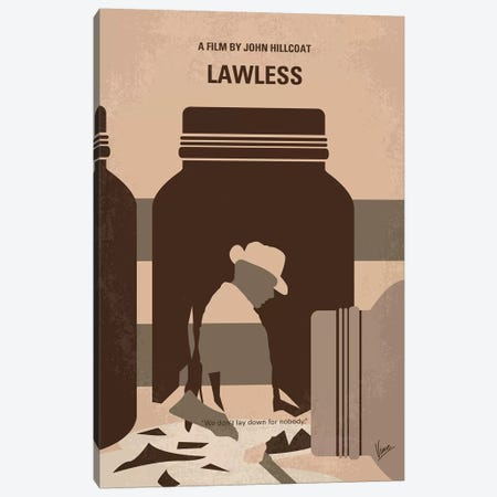 My Lawless Minimal Movie Poster Canvas Print #CKG1356} by Chungkong Canvas Print