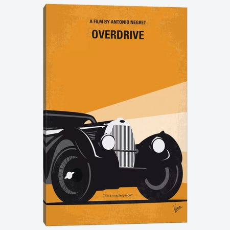 My Overdrive Minimal Movie Poster Canvas Print #CKG1358} by Chungkong Canvas Wall Art