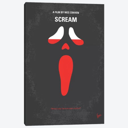 Scream Minimal Movie Poster Canvas Print #CKG135} by Chungkong Canvas Art