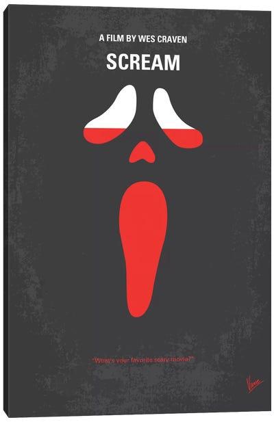 Scream Minimal Movie Poster Canvas Print #CKG135