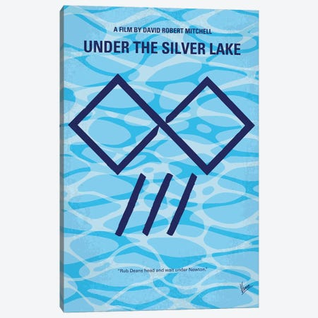 My Under The Silver Lake Minimal Movie Poster Canvas Print #CKG1360} by Chungkong Art Print