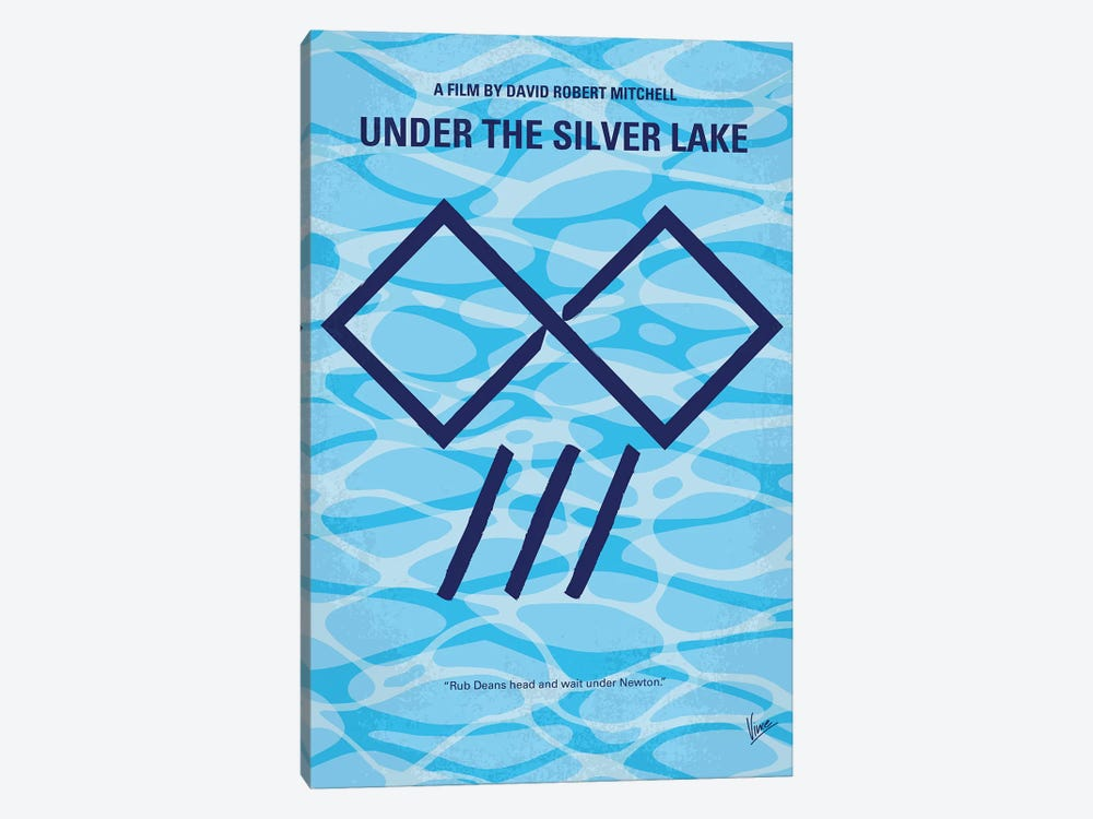 My Under The Silver Lake Minimal Movie Poster by Chungkong 1-piece Canvas Print