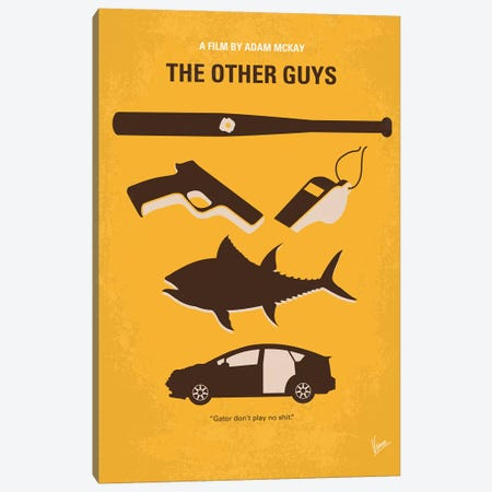 My The Other Guys Minimal Movie Poster Canvas Print #CKG1362} by Chungkong Canvas Print