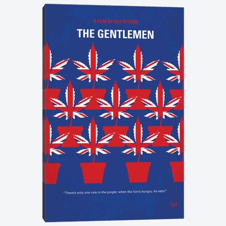 The Gentlemen Minimal Movie Poster Canvas Print #CKG1364} by Chungkong Canvas Wall Art