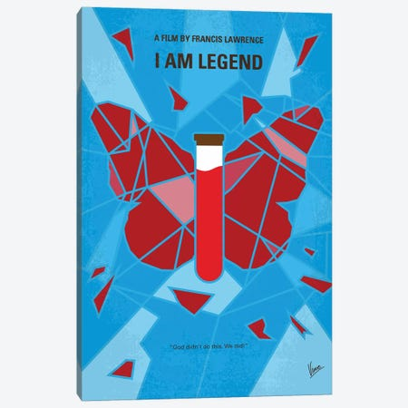 I Am Legend Minimal Movie Poster Canvas Print #CKG1366} by Chungkong Canvas Artwork