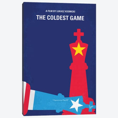 The Coldest Game Minimal Movie Poster 3-Piece Canvas #CKG1368} by Chungkong Canvas Print