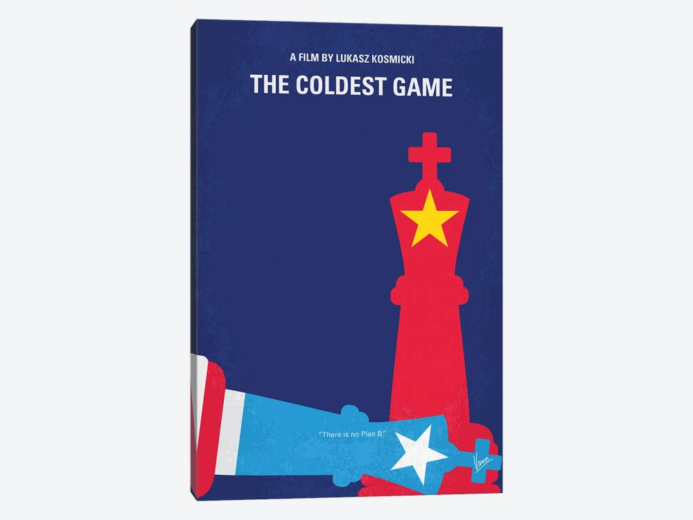 The Coldest Game Minimal Movie Poster by Chungkong 1-piece Canvas Art Print