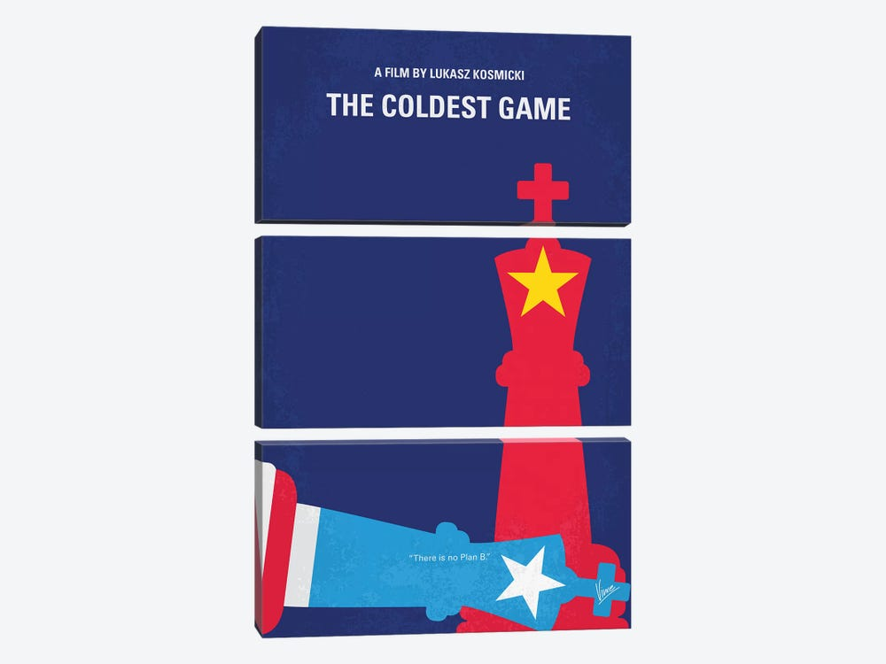 The Coldest Game Minimal Movie Poster by Chungkong 3-piece Canvas Print