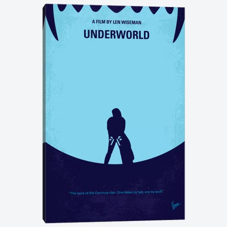 Underworld Minimal Movie Canvas Print #CKG136} by Chungkong Canvas Wall Art