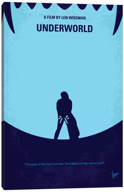 Underworld Minimal Movie Canvas Art Print