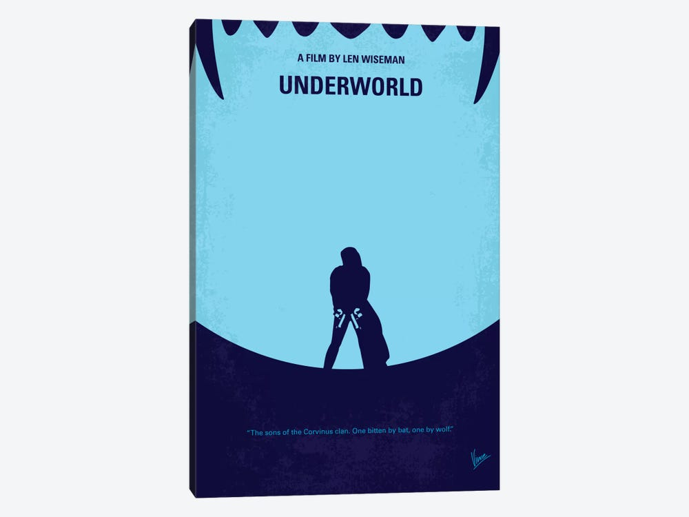 Underworld Minimal Movie by Chungkong 1-piece Canvas Print