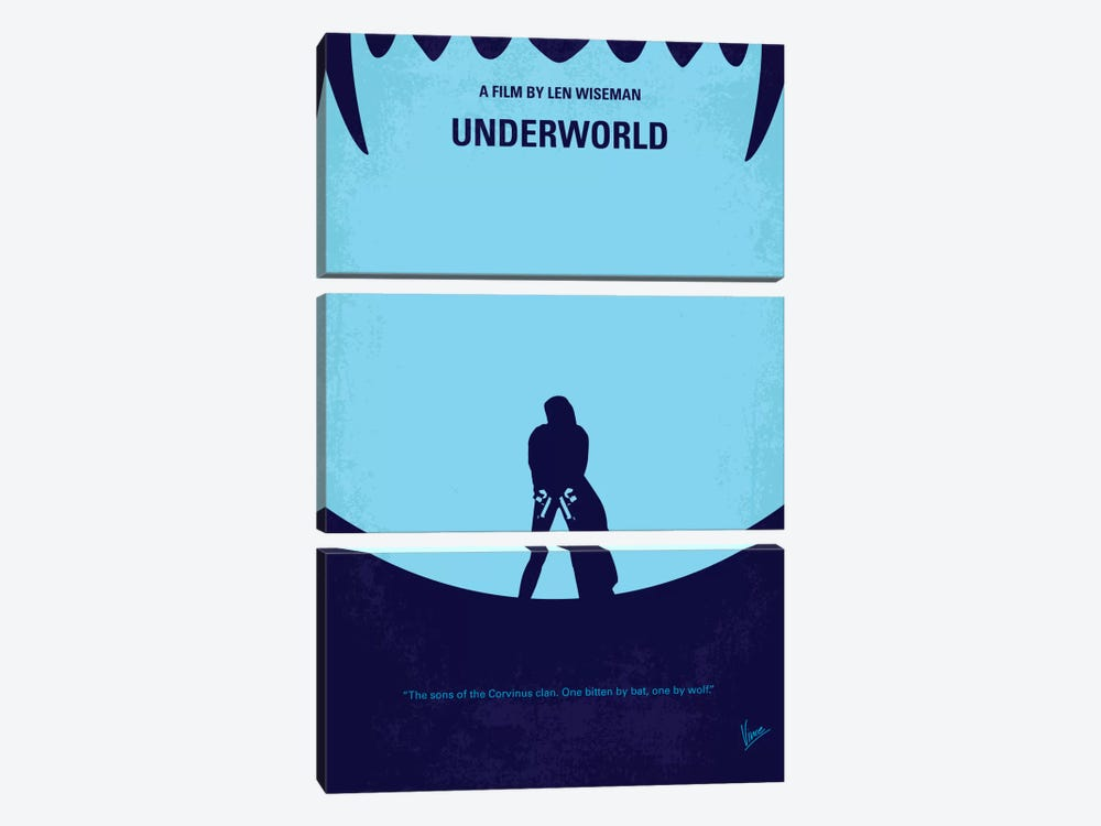 Underworld Minimal Movie by Chungkong 3-piece Art Print