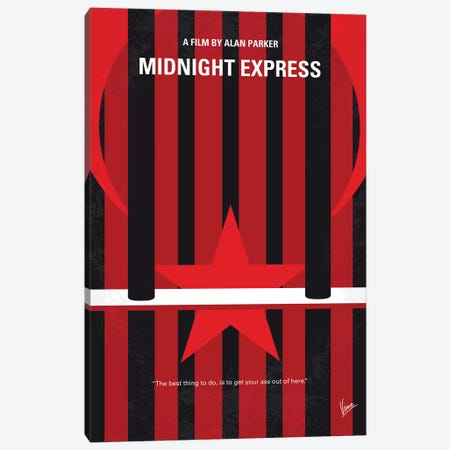 Midnight Express Minimal Movie Poster Canvas Print #CKG1370} by Chungkong Canvas Art