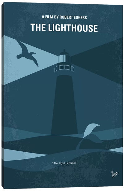 The Lighthouse Minimal Movie Poster Canvas Art Print