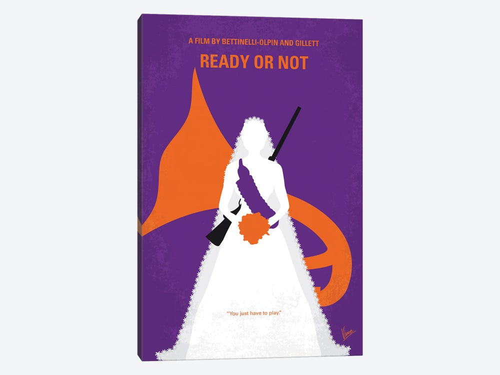 My Ready Or Not Minimal Movie Poster by Chungkong 1-piece Canvas Wall Art
