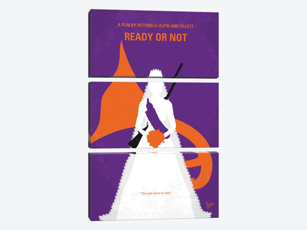 My Ready Or Not Minimal Movie Poster by Chungkong 3-piece Canvas Art
