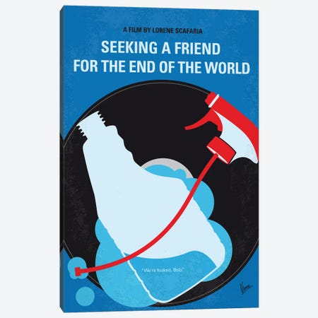 My Seeking A Friend For The End Of The World Minimal Movie Poster 3-Piece Canvas #CKG1375} by Chungkong Art Print