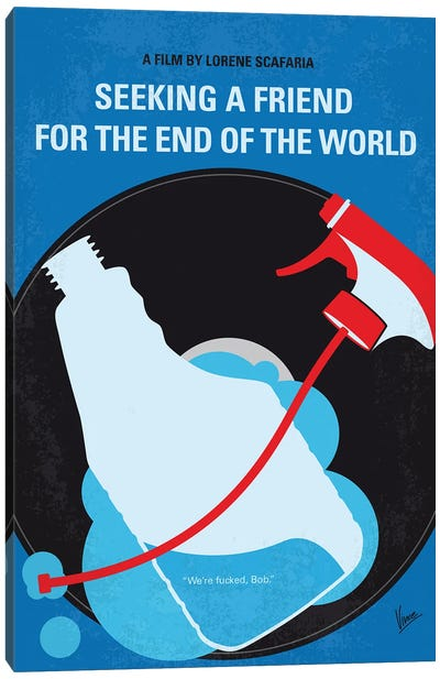 My Seeking A Friend For The End Of The World Minimal Movie Poster Canvas Art Print